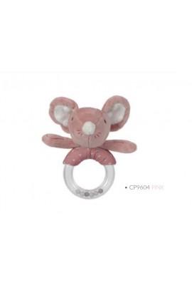 Sonajero Mouse rosa
