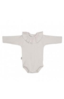 Body bebe crudo con cuello volante