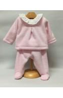 Pijama tundosado rosa
