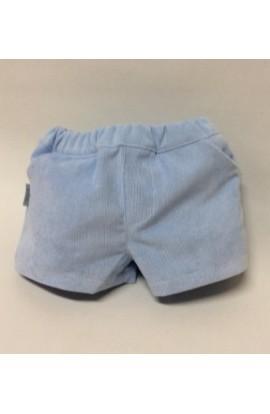 Pantalon corto pana azul