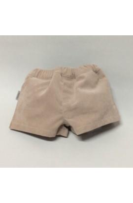 Pantalon corto pana beige