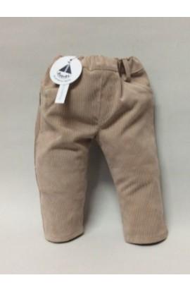 Pantalon largo pana beige