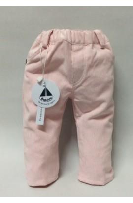 Pantalon largo pana rosa