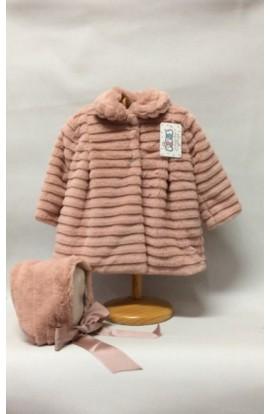 Abrigo color rosa palo