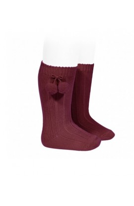 Calcetin invierno color Borgoña